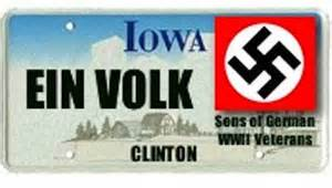 Iowa (unofficial) license plate