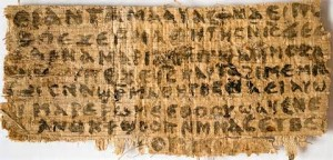 Gospel of Jesus' Wife: Coptic scroll that states Jesus was married--that many early Christians accepted.
