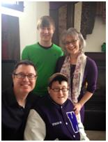 Joy Newcom and family