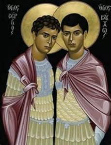Saints Serfius and Bacchus in the early Christian church
