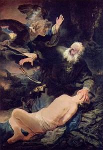 <i>Abraham sacrificing Isaac (Rembrandt Harmensz van Rijn 1634)</i>