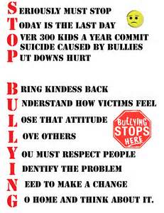Bullying comes in many forms (family, religion, politics, etc) at all ages and frequently leads to suicide