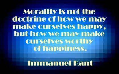 Immanuel Kant on morality of happiness