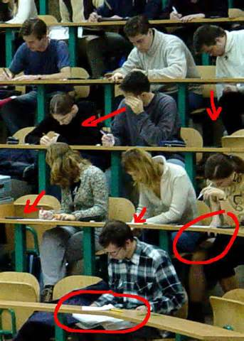 Cheating on an exam