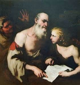 Socrates with Alkibiades and Xanthippe by Luca Giordano