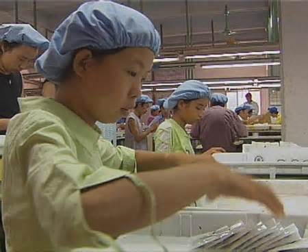 Child labor on mainland China making exports to Perú and the USA