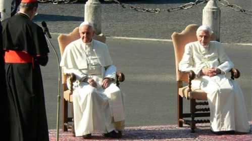 Pope Francis I and Pope Emeritus Benedict XVI