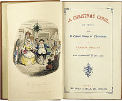 "Charles Dickens' ""A Christmas Carol"" first edition 1841."