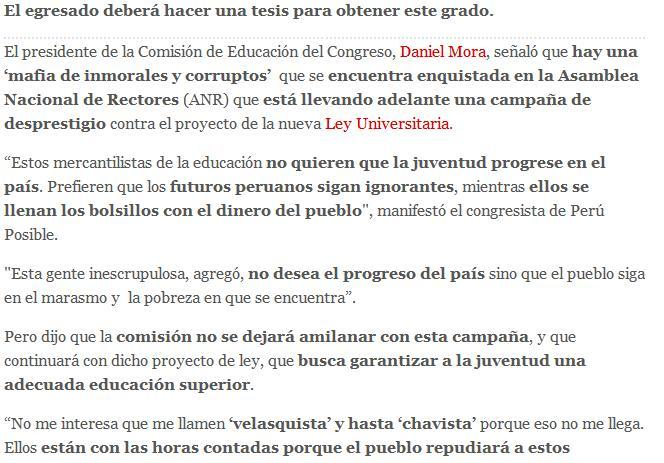 Education in Perú (La Republica)
