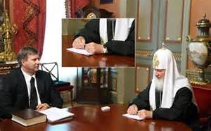 Russian Orthodox Patriarch Kirill's disappearing 30,000 Euro watch.