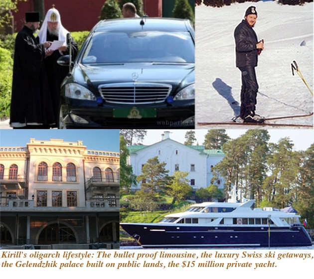 Kirill's lavish lifestyle while Russia's poor go hungry