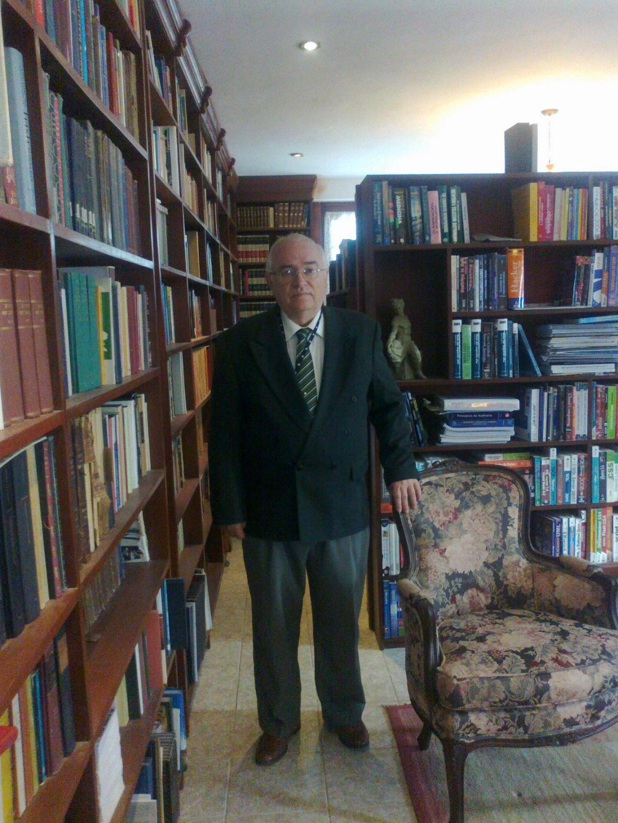 <i>In the west wing of my private library in my home</i>