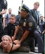 New York City police at Wall Street protest