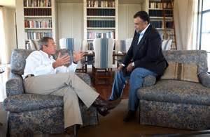 Prince Bandar-bin-Saud with George W. Bush