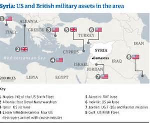 UK, USA assets in Mediterranean.