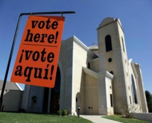 Voting in a Florida church