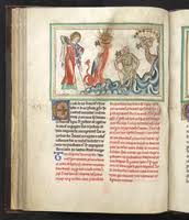<i>Three unclean spirits...like frogs</i> (medieval ms. in private collection of author)