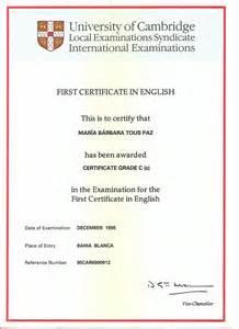 <i>FCE Certificate</i>