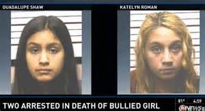 <i>12 year old Katelyn Roman and 14 year old Guadalupe Shaw bullied Rebecca Sedgwick.</i>