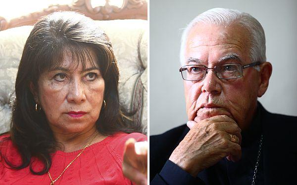 <i>Martha Chávez</i> (L) and <i>Monseñor Luis Barnbarén</i> (R)