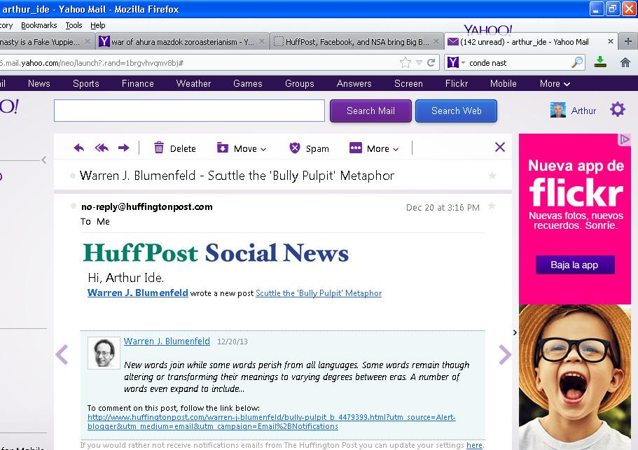 <i>HuffPost's invitation to read an article</i>