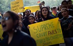 <i>India's LGBT community protesting the 11 December 2013 Supreme Court ruling legalizing hate</i>