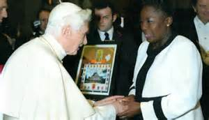 "<i>Pope Benedict XVI blesses Uganda's Rebecca ""Kill The Gays"" Kadaga</i>"