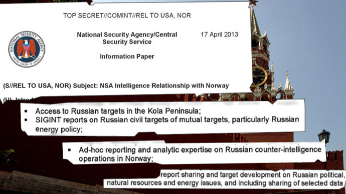 <i>NSA paid Norway to spy on Russia</i>