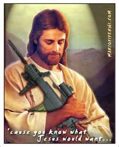 <i>Jesus armed for war.</i>