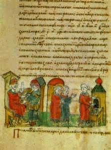 <i>Oleg concludes a peace treaty after conquering Byzantium</i>