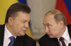 <i>Viktor Yanukovych and Vladimir Putin</i>