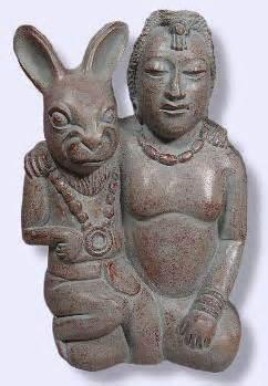 <i>Mayan moon goddess and the fertility rabbit</i>