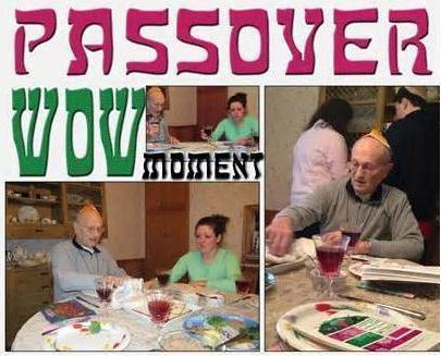 <i>Passover meal and wine.</i>