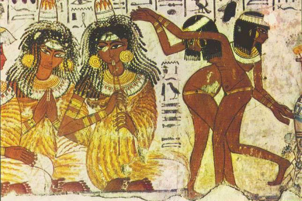 <i>Dancing nude to celebrate the resurrection of life and Spring.</i> Egypt.