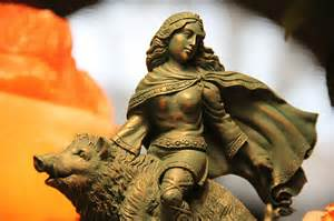 <i>Statue of the goddess Freya, Spring Equinox and fertility</i>