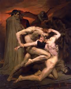 Adolphe Bouguereau (1825-1905) - <i>Dante And Virgil In Hell</i> (1850)