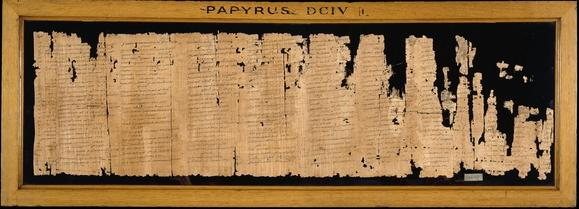 <i>Khaemwaset on Setne papyrus: the tale of the rich man in hell.</i>