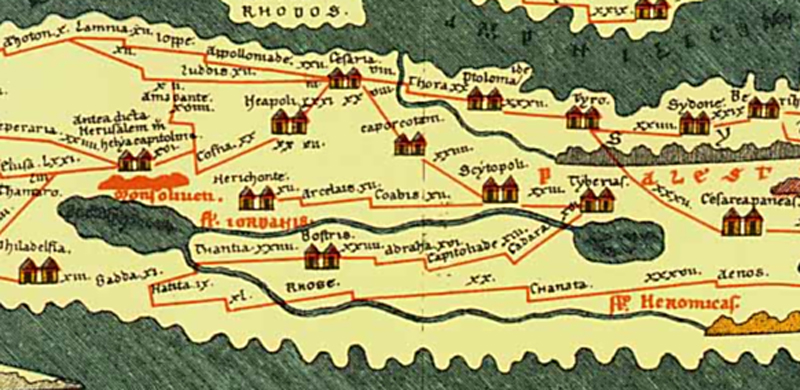<i>4th century Roman map of Judea and no Nazareth</i>