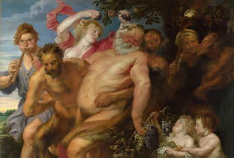 <i>'Drunken Silenus supported by Satyrs'</i>Attributed to Anthony van Dyck