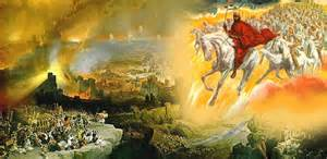 <i>Jesus rides out of the clouds on a horse</>
