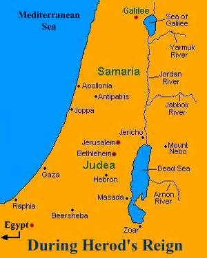 <i>Map of Judea: there is no Nazareth</i>