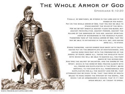 <i>Put on the armor of god</i> Christianity was never a religion of peace