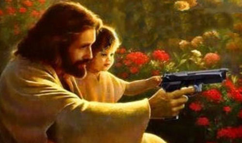 <i>Jesus will train children how to kill.</i>