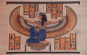<i>Isis: woman in heaven clothed with the sun and the moon at her feet.</i>