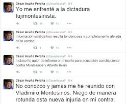 Acuna twitter on Montesinos