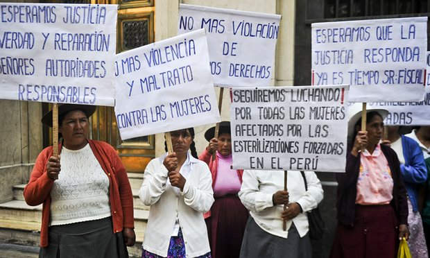 Sterilized women of Peru.